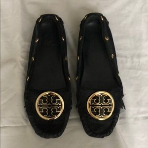 """Tory Burch """"Alexandra"""" suede moccasins - size 7"""